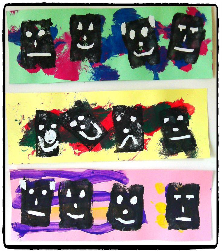 bricolage afrique, masques africains, peinture enfant