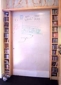 home office whiteboard. build your own gigantic whiteboard home office