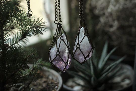Crystals. Pretty! St. Hildegard Von Bingen believed in the healing properties of crystals.