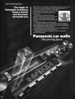 Panasonic Ambience Car Stereo 1984 Ad Picture