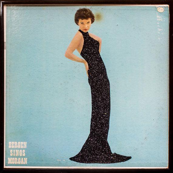 Glittered Vintage Polly Bergen Album Cover Art
