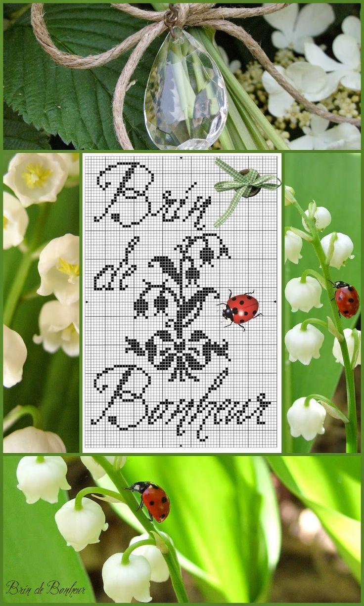 Extrêmement 682 best Grilles de points de croix fleurs images on Pinterest  QF09