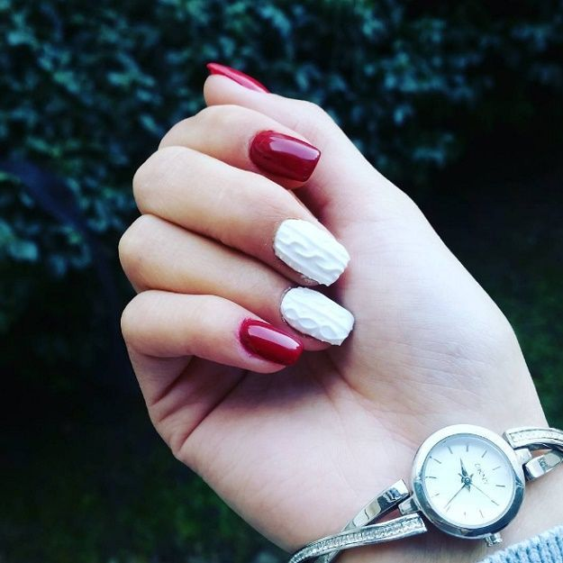 18 Red And White Nail Art Designs To Try On Valentine's