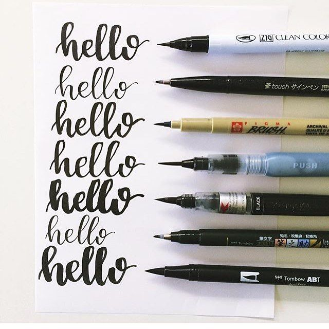 105 melhores imagens de littering no pinterest planos de fundo here are a few of my favorite pens announcement beginner brush lettering fandeluxe Choice Image
