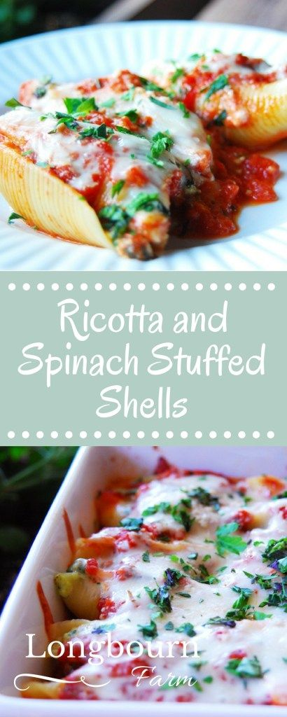 These ricotta and spinach stuffed shells are a family favorite meal ...