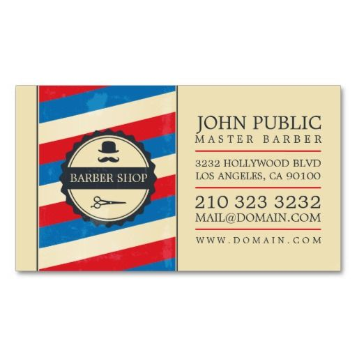 217 best barber business cards images on pinterest barber business vintage barber shop business card flashek Choice Image