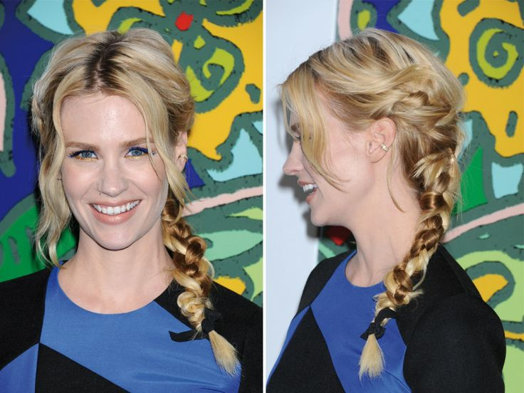 On pique : la tresse en Y de January Jones