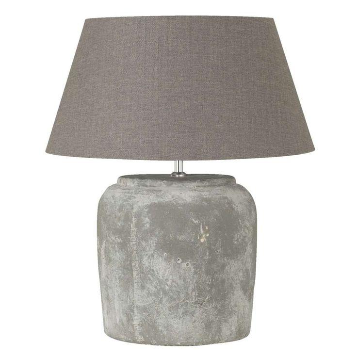 Voet tafellamp Lara - grijs | Leen Bakker
