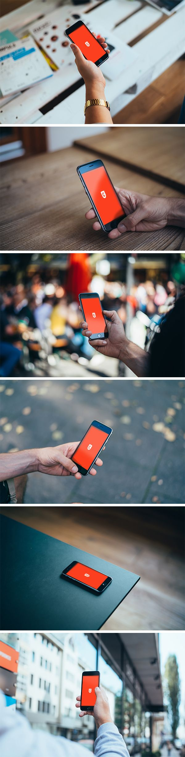iPhone 6 Photorealistic MockUps | GraphicBurger