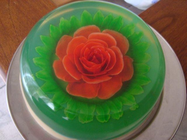 hecho a mano con gelatina