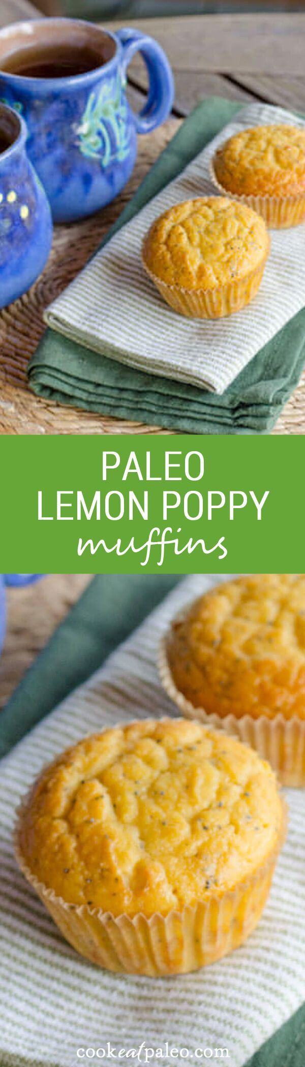 Lemon poppy paleo muffins are quick and easy gluten-free recipe. Just add…
