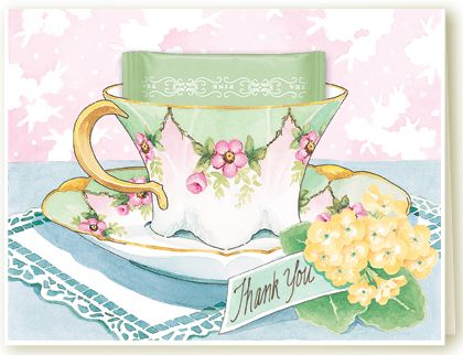 Thank You Teacup Greeting Card with the most delicious ...