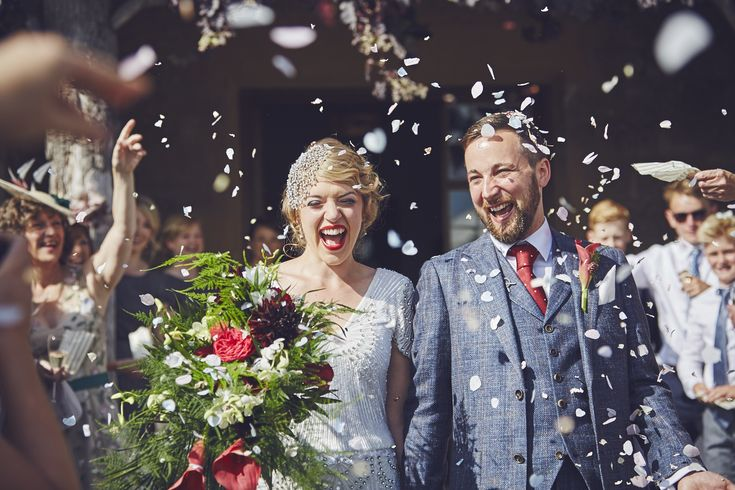 Love the joyous confetti moment from this wedding at Hotel Endsleigh in Devon. #hotelendsleigh #devonweddingphotography #confetti