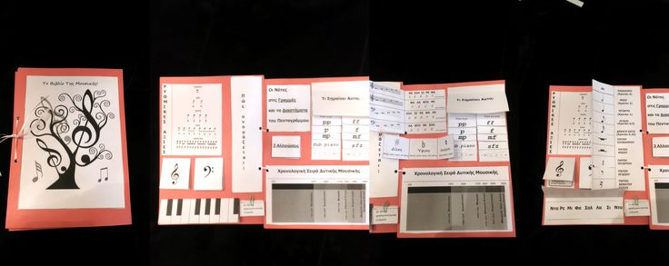 DIY Music lapbook :)  Music lapbook in greek...Downloaded the given PDF and edited everything in Greek.  Ελληνικό βιβλίο για απλή μουσική θεωρία. Χρησιμοποιώ δύο τέτοια βιβλία ως βοήθημα σε καθε ομάδα παιδιών στην τάξη.