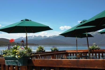 Tiki Bar Flowers 2 Our lunch spot today overlooking the marina at Lake Dillon