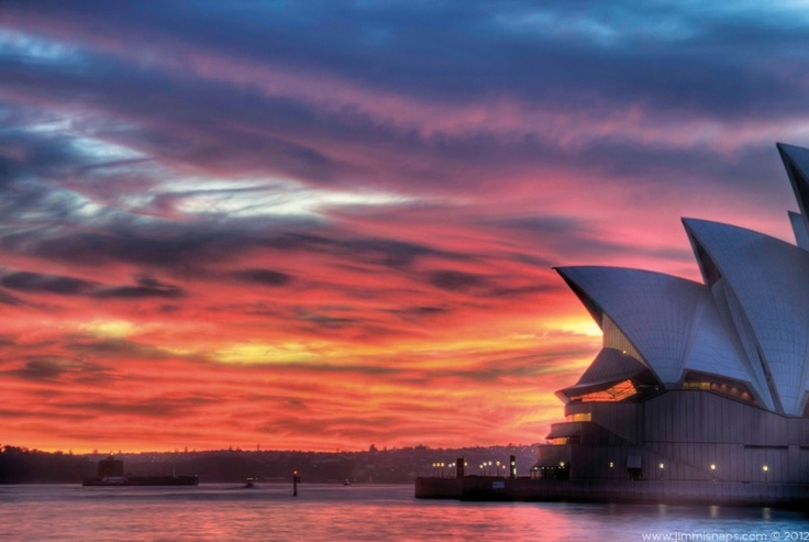 Red Dawn - Sydney Opera House blanketed in red velvet.  One of the most amazing sunrises ever - it is available to buy, just follow the link.