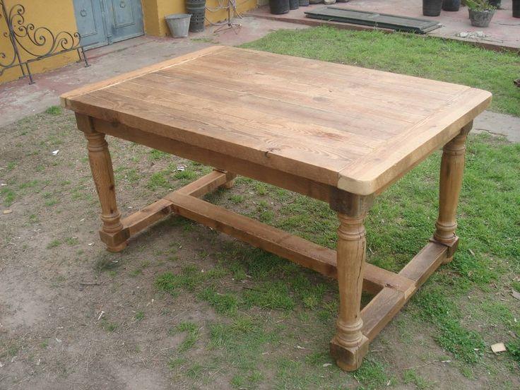 Campo chico mesa rustica de pinotea mi casa decorada - Mesa madera rustica ...