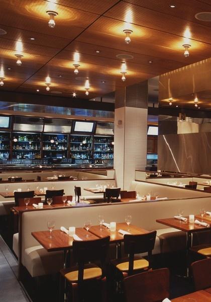 Modern Decor Hospitality Restaurant Interior Design Of StripSteak Las Vegas PC