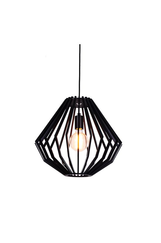 SVEN BLACK WOOD SMALL PENDANT - Modern Pendants - Pendant Lights - LIGHTING DIRECT LIMITED