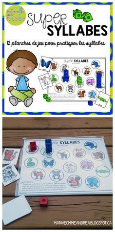 Super syllabes! An easy, low-prep game to use during your small group lessons to get your students practicing dividing words into syllables en français