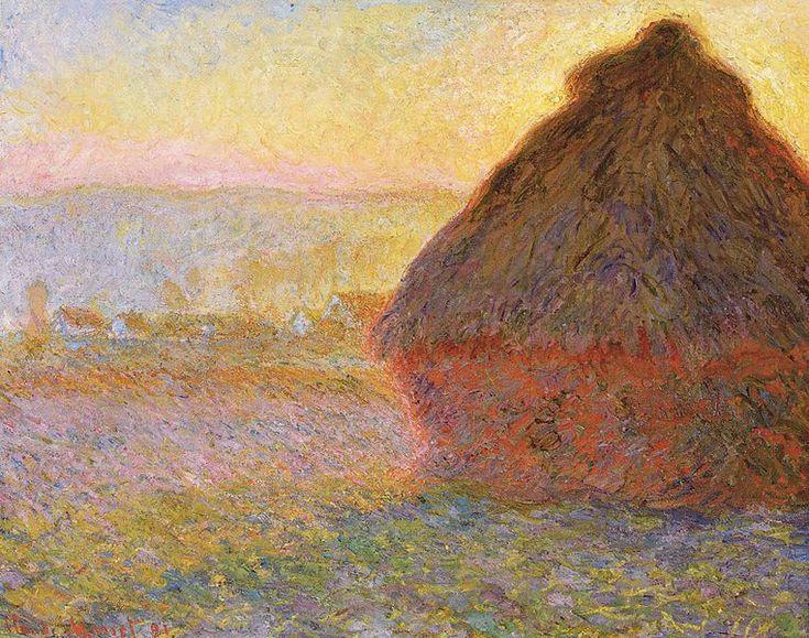 Claude Monet, Haystacks (sunset), 1891, oil on canvas