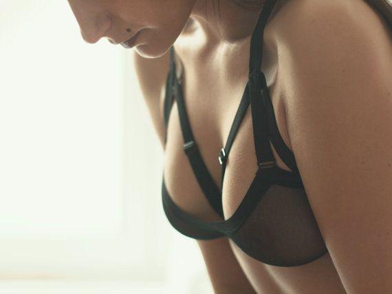 Black Strappy Bra, Cage Bra, Sexy Bustier, Harness Bra, Black Bra, Sexy Bra, Kinky Lingerie, Chic Lingerie, Cute Bra, Sheer Bra, Bondage Bra