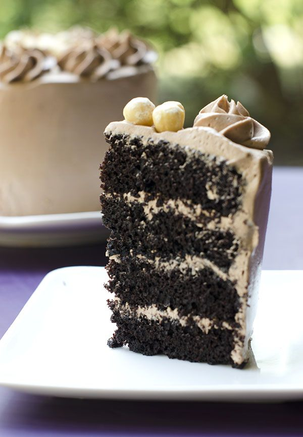 Chocolate Layer Cake with Nutella Buttercream Frosting | The Cake Merchant