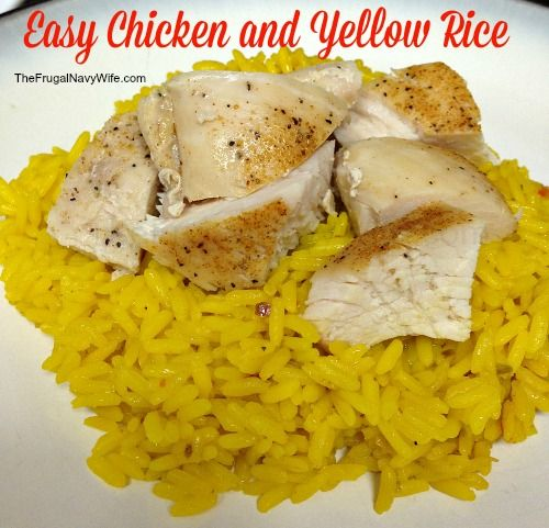 Chicken and Yellow Rice Recipe - Easy, Quick and Delicious Dinner Idea!