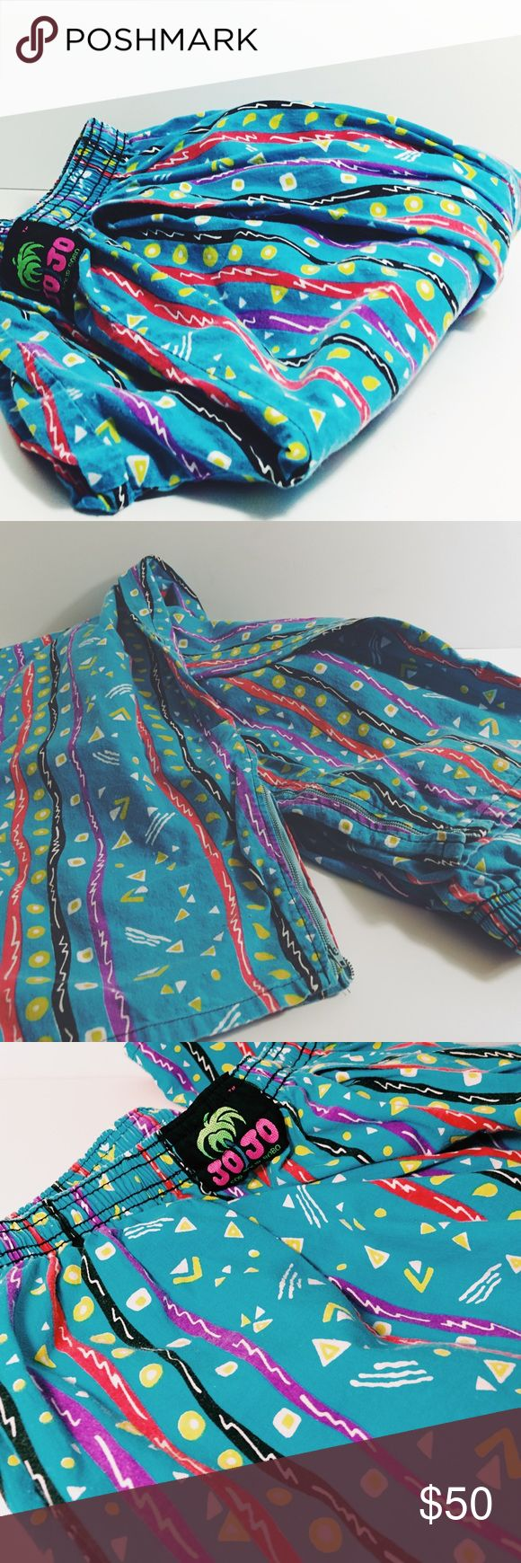 Vintage 90s JO JO Fresh Prince Pattern Harem Pants Amazing Bright 90s geometric harem, MC Hammer style pants. Size Large. Excellent condition. JO JO Pants