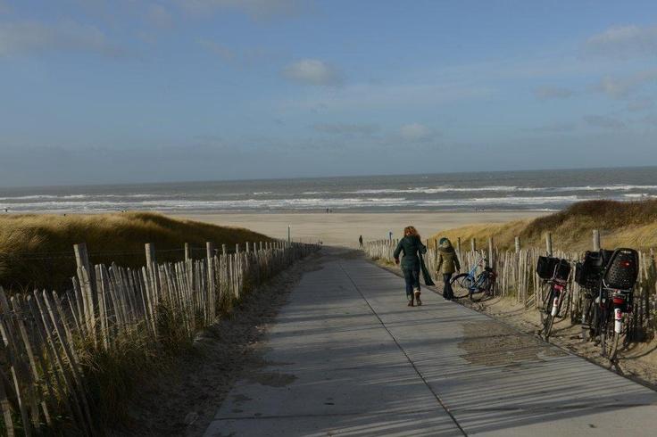 Strand Kijkduin im Dezember