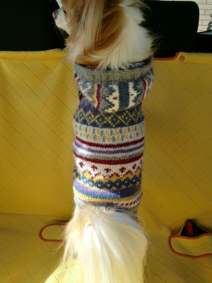 ワンちゃんのフード付きセーターの作り方|犬用の服|犬・猫・その他ペット|ハンドメイドカテゴリ|アトリエ