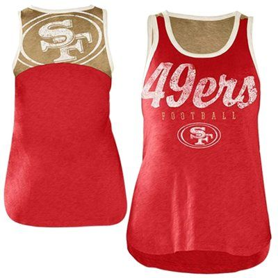 San Francisco 49ers Ladies National Title Tank Top - Scarlet/Gold