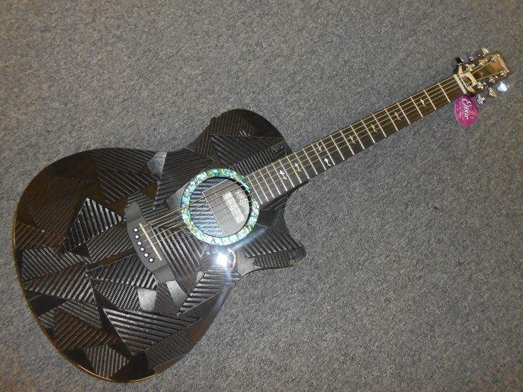 Rainsong Black Ice OM-1000N2 Acoustic Electric Guitar! Awesome Guitar! LOOK!!