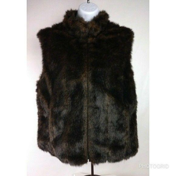 Women's Faux Fur reversible outdoor vest #unknown #Reversible