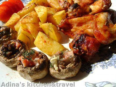 Adina's kitchen & travel: Aripioare marinate in stil thailandez cu garnituri...