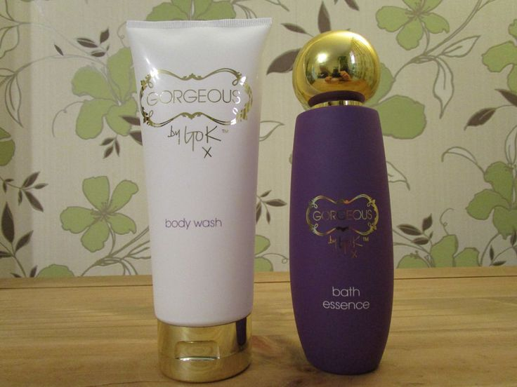 2 x 200 ml Gorgeous By Gok Wan Body wash white & bath essence purple Brand new