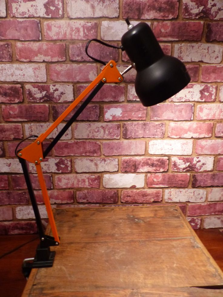 HARLEY DAVIDSON VINTAGE Articulating Drafter's Lamp - Task Lamp by JusFunkinAround on Etsy