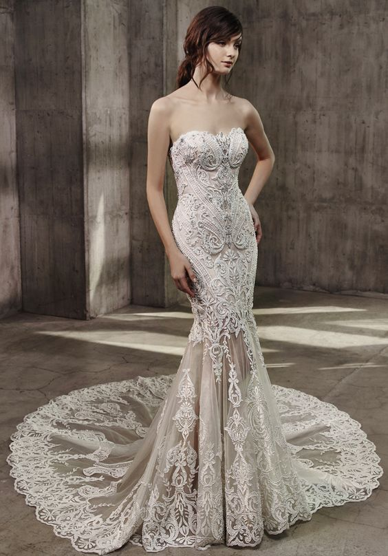 Featured Dress: Badgley Mischka; Wedding dress idea.