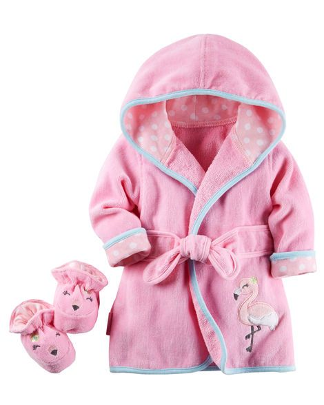 Baby Girl Flamingo Robe & Bootie Set from Carters.com. Shop clothing &…