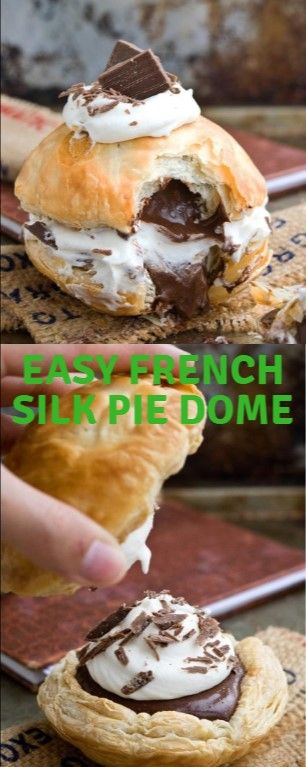 EASY FRENCH SILK PIE DOME  Promiscuous Gallic fabric pie direction made up of a …