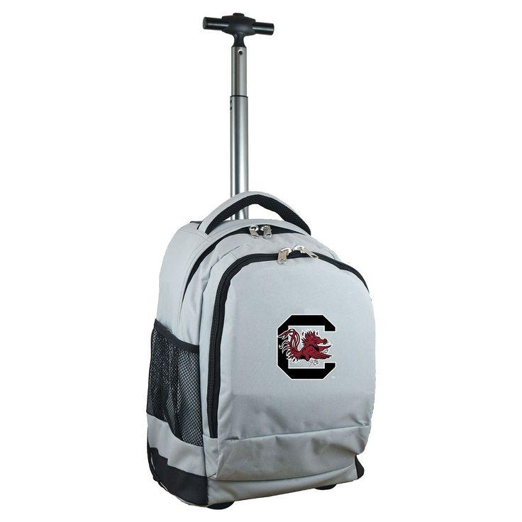 NCAA South Carolina Gamecocks Grey Premium Wheeled Backpack