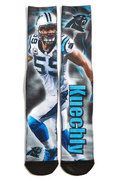 #CarolinaPanthers - Luke Kuechly' Socks at Nordstrom.com, because...Luke Kuechly.