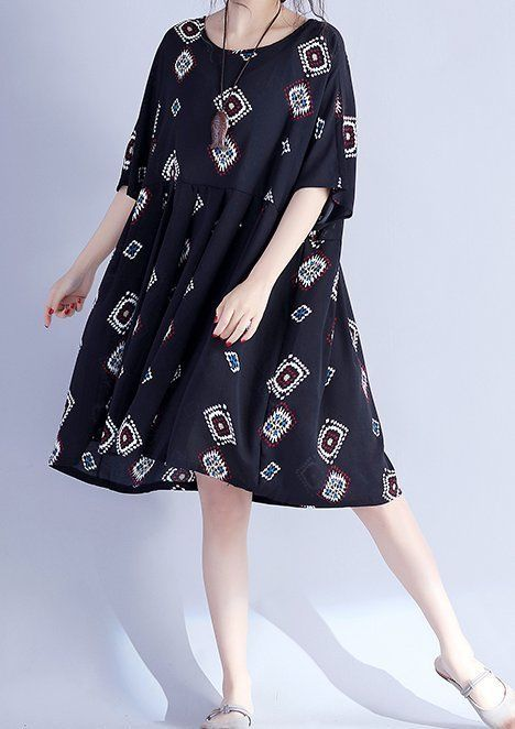 Women loose fitting over plus size extract pattern dress tunic pregnant fashion #Unbranded #dress #Casual