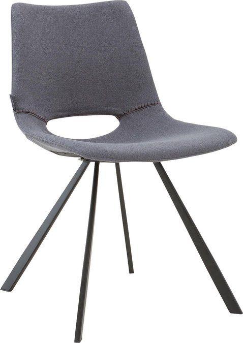Eetkamerstoel Yell biedt u Italiaans design én comfort! Met zijn zwarte metalen poot en fijn geweven grijze stof past de Yell in elk modern interieur. Let ook op de speelse zitting, die dit model extra aantrekkelijk en uniek maakt.