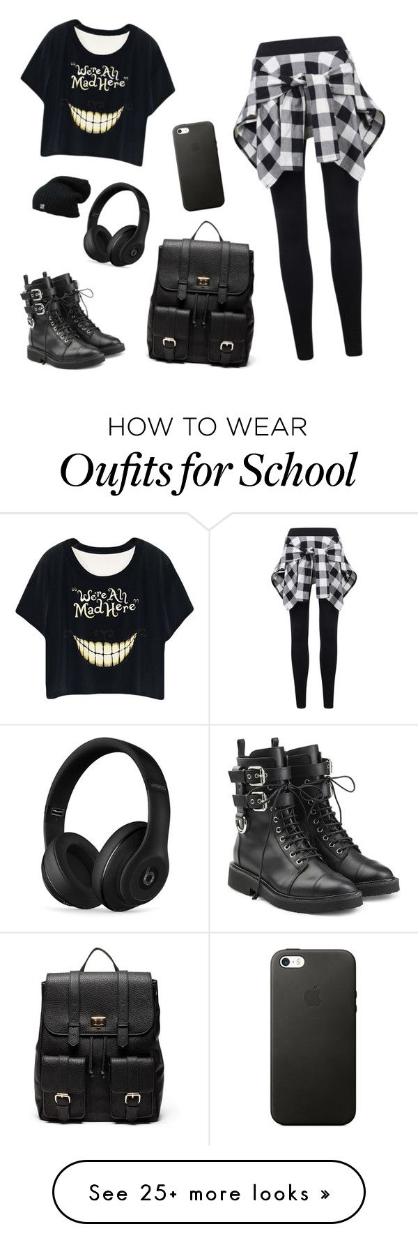 """Is this something you would wear to school? Comment if so :)"" by jessieeee4 on Polyvore featuring Giuseppe Zanotti, Sole Society and Beats by Dr. Dre"