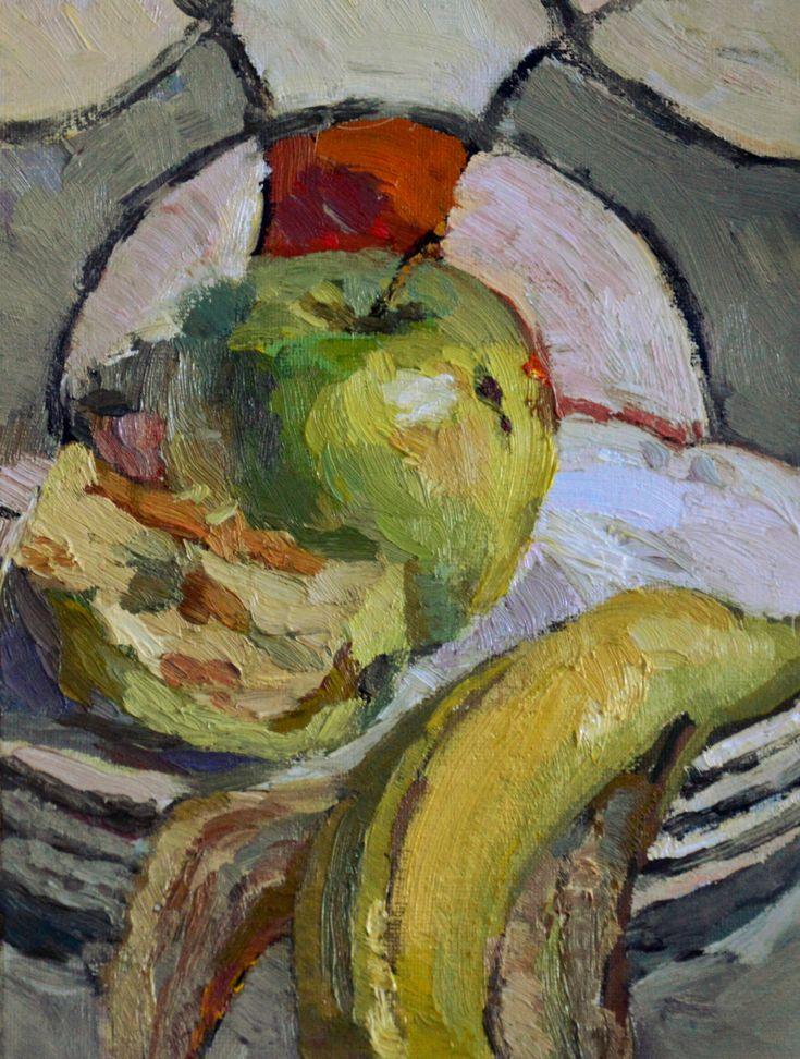 Apple still life oil painting by Victoria Duryagina