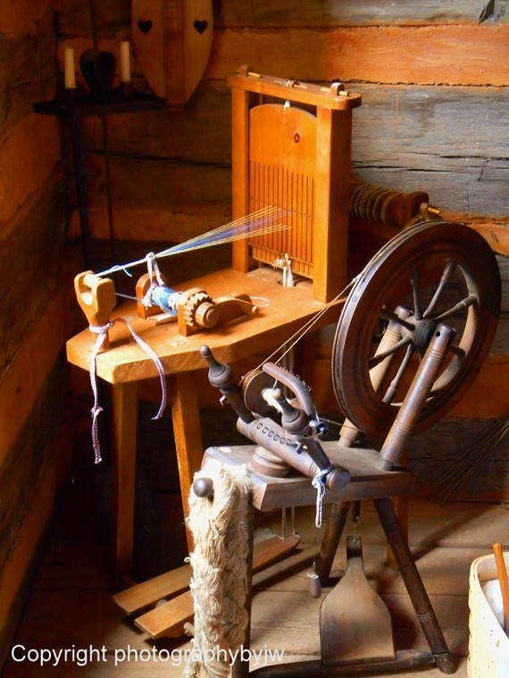Spinning wheel and a really cool belt loom.