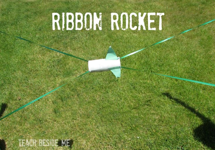 Ribbon Rocket - easy to make, fun to play. The video at the end really helps.
