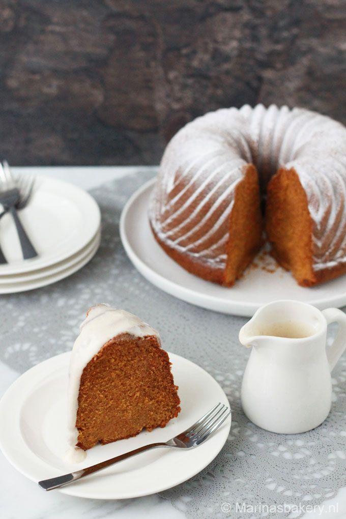 Pompoen Bundt Cake met Cream Cheese Frosting