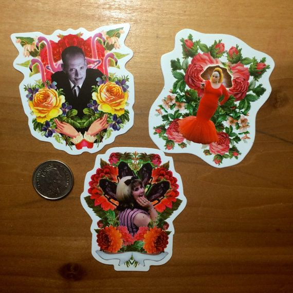 STICKERS John Waters TRIO  Divine John Waters Tracy by LastCraft